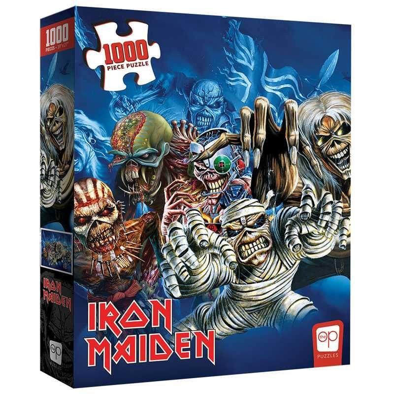 """Iron Maiden """"The Faces of Eddie"""" Puzzle 1000pc"""