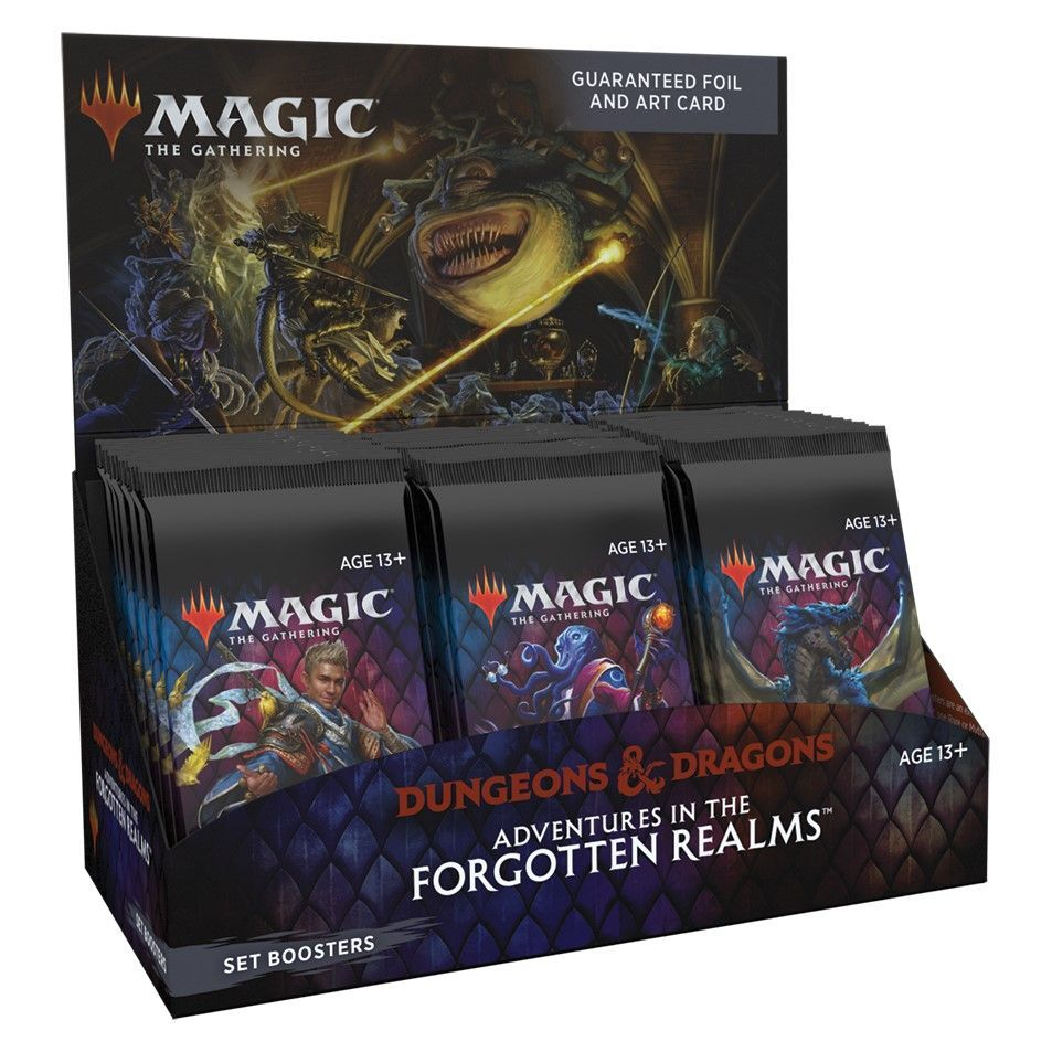 Magic Adventures in the Forgotten Realms Set Booster Display