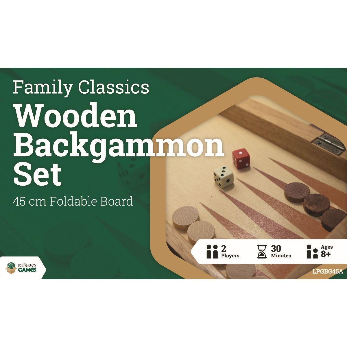 LPG Wooden Folding Backgammon Case 45cm